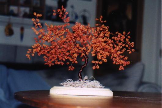 11. Описание раздела цветы и деревья из бисера плетение деревьев и изготовление цветов из.  На зиму, может лучше...