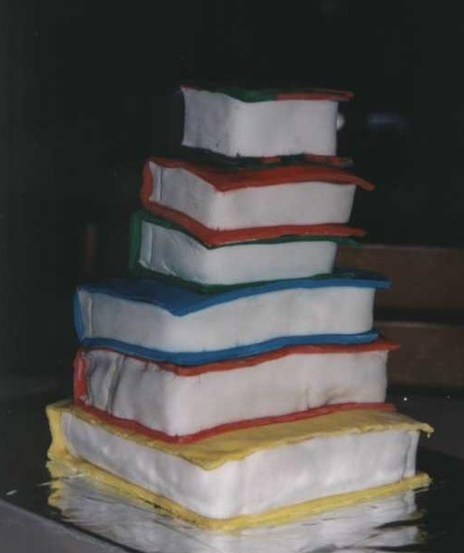 cake shaped like book
