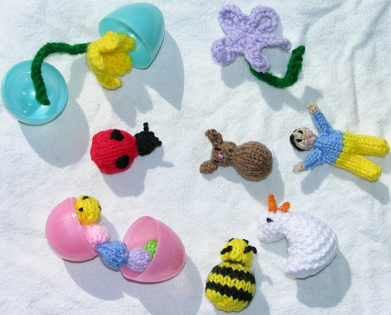 Free Knitting Patterns Mini Easter Egg Toys Kimberly Chapmans