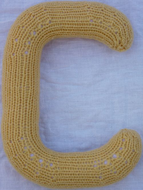 Knitting Patterns Of Letters : Knitting Patterns - 3D Alphabet - Kimberly Chapmans Knitting