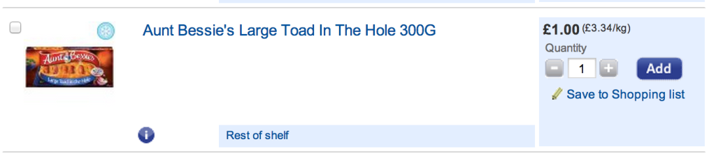 aunt bessie's large toad in the hole